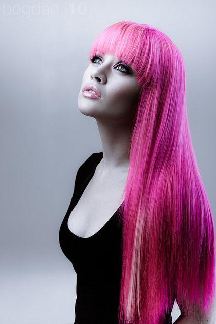 Bright pink #hair