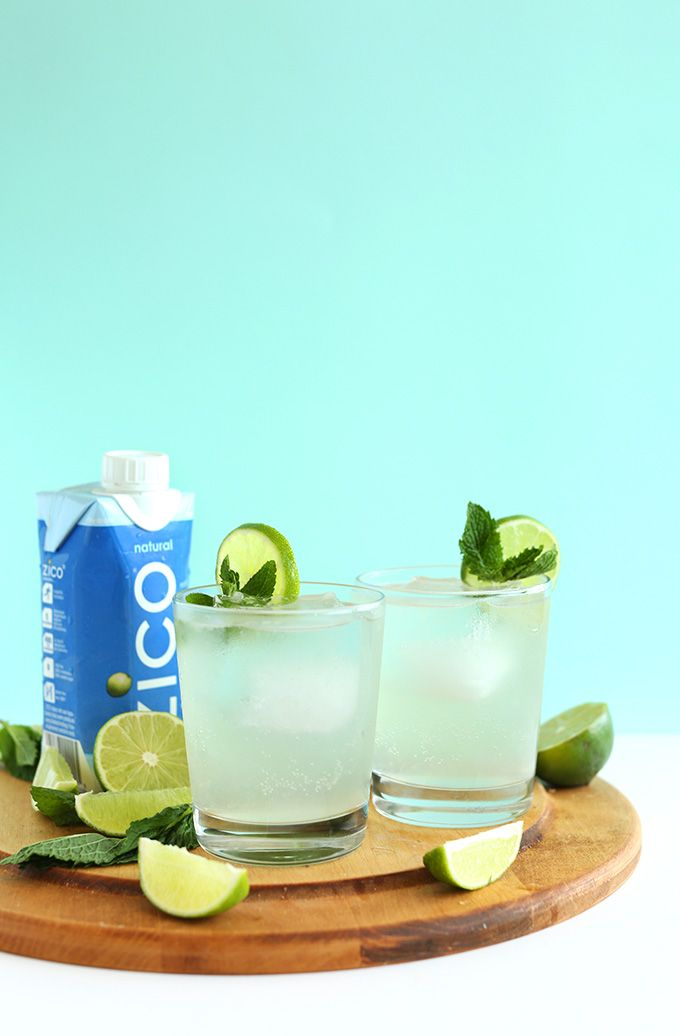 Coconut Gin and Tonics! Refreshing, bubbly, naturally sweet and just 4 ingredients!