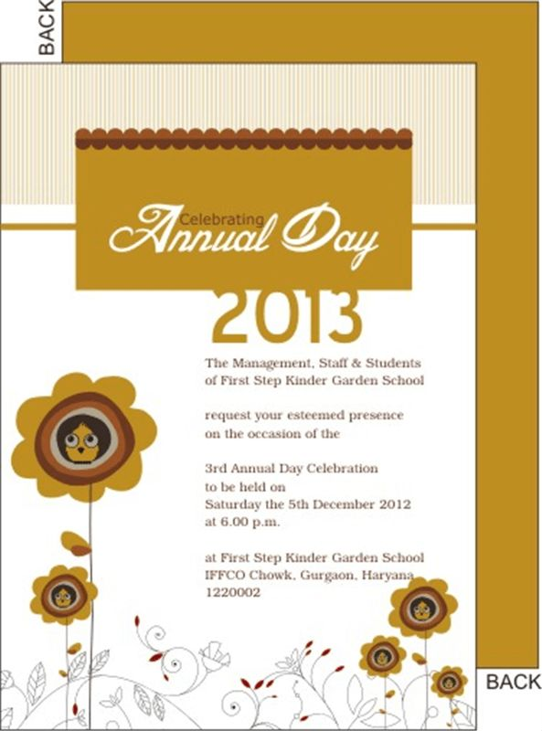 School annual day function invitation card printable personalized Printkaro #SampleResume #