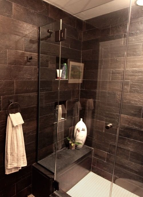 Grey Bathroom. Industrial ShowersIndustrial BathroomGrey TilesWood ... Part 56