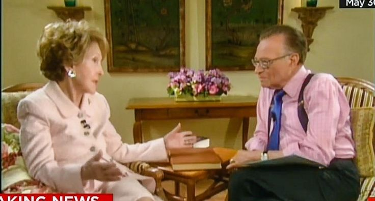 Before dying, Nancy Reagan told Larry King she was 'very upset' about the 2016 campaign