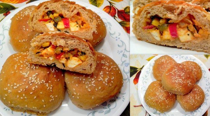 Paneer masala Stuffed Wheat Flour Buns
