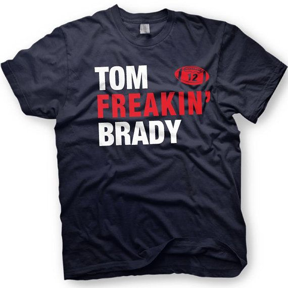 Tom Brady Shirt- New England Patriots  -  Number 12 - Funny shirt