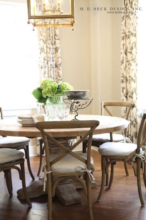 Country Farmhouse Dining Room Ideas And Inspiration Natural Wood Tables And Chai Restoration Hardware Dining Table French Bistro Chairs Farmhouse Dining Table