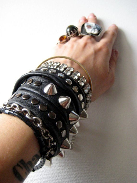 heavy METAL BRIDE twistee bracelet by LAUKaccessories on Etsy, $43.00
