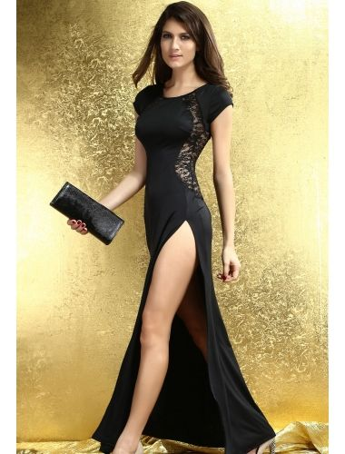 Maxi Dress with Lace Back and Fishtail | buy sexy Club Dresses ,  Club wear online in india | StringsAndMe