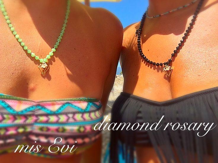 Diamond rosary!!!! Handmade necklace