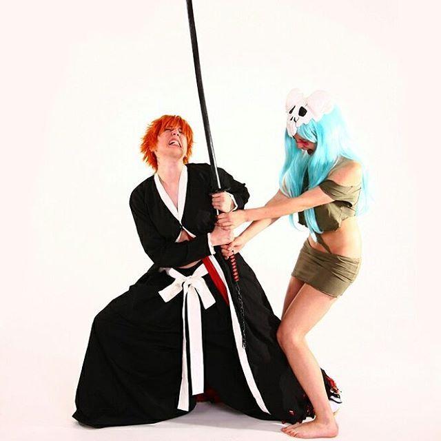 Ichigo and Neliel from Bleach cosplay by Cloud-Dark Cosplay on DeviantArt.  #anime #animecosplay #bleach #bleachanime #bleachcosplay #bleachcosplayer #animecosplay #animecosplayer #cosplay #ichigo #neliel #ichigocosplay #nelielcosplay