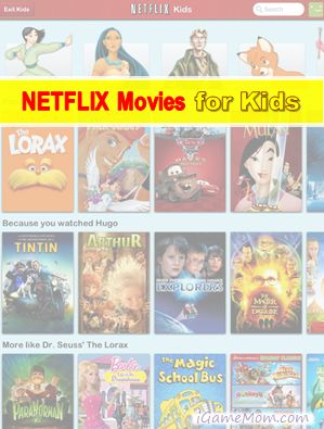 Netflix Movies now has a kids movie section, making it easier for kids to choose movies.