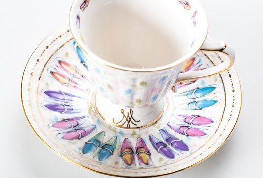 Marie Loves Tea Cup & Saucer Shoe | T2 Tea