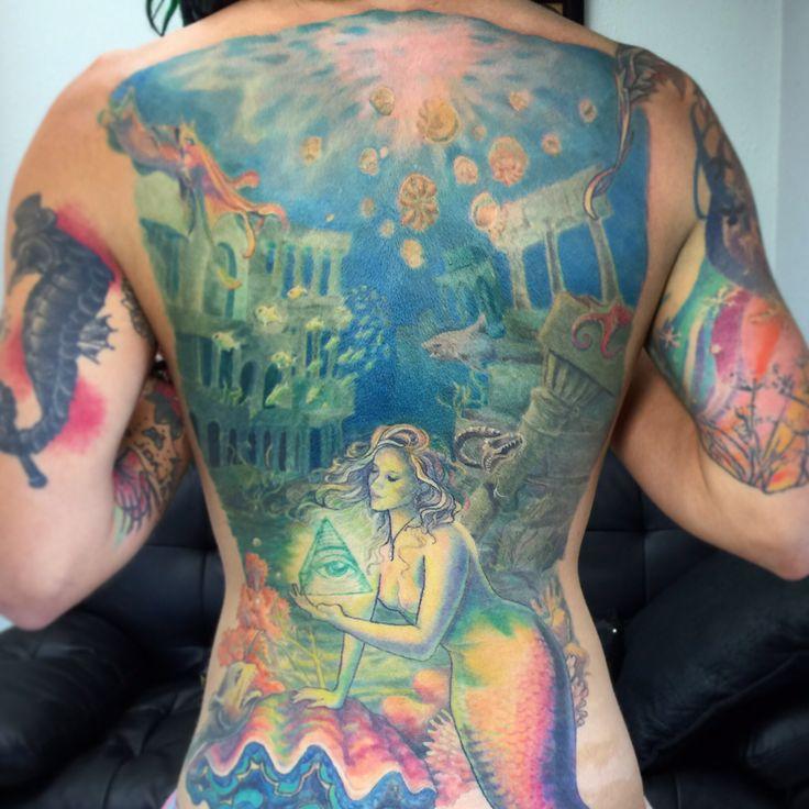 soren high 39 s epic mermaid backpiece atlantis illuminati aquawesomeness ocean tattoo favorite. Black Bedroom Furniture Sets. Home Design Ideas
