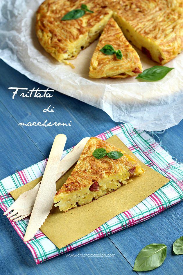 """""""Frittata di pasta"""", la ricetta di Enrica del blog """"Chiarapassion""""…"""