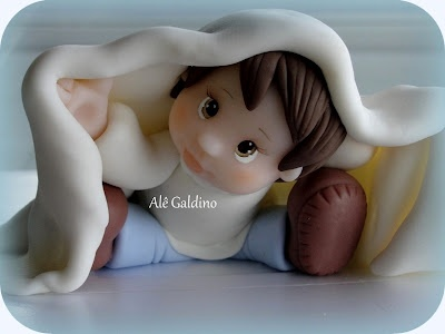 donde esta el bebe?  porcelana fria polymer clay