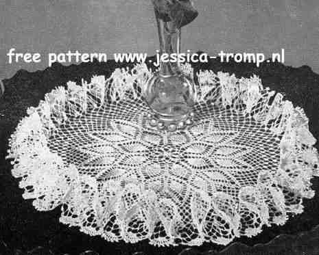 Pineapple Ruffle doily free vintage crochet doilies patterns