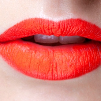 lovely orange lips