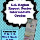 Region report poster (template) for Intermediate grades. Works for ANY U.S. Region. Rubric included.