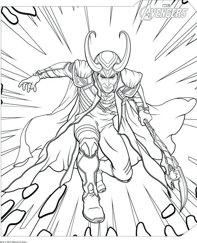 Coloriage A Imprimer Loki Avengers Gratuit Et Colorier Coloriage