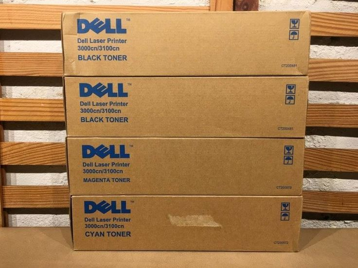 4 New Genuine Dell Laser Printer Toner Cartridges 1 Magenta 1 Cyan 2 Black #Dell