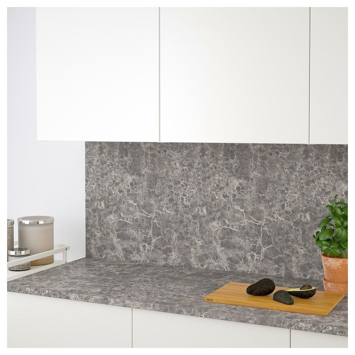 Ekbacken Countertop Dark Gray Marble Effect Laminate Marble