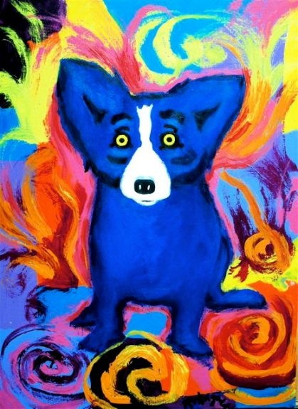 George Rodrigue and his famous Blue Dog.Art Weeks, Art Inspiration, Art George, Art Blue, Blue Dogs, George Rodrigues, Cajun Artists, Artists Happily, Famous Blue