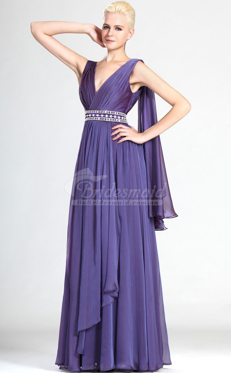 50 best purple bridesmaid dresses images on pinterest purple beautiful regency chiffon v neck long bridesmiad dresspurple bridesmaid dresses ombrellifo Image collections