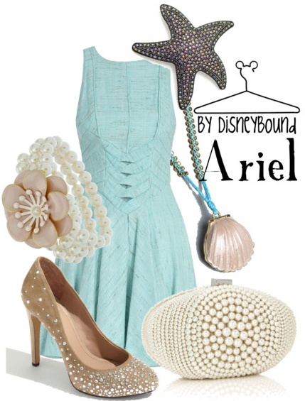 love the blue dress and little purse