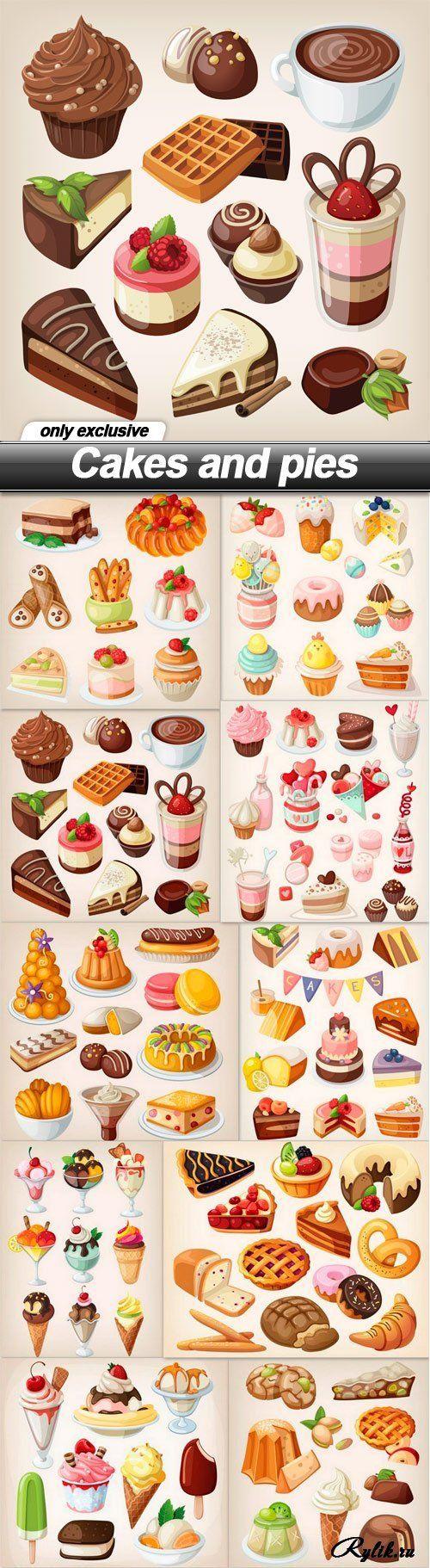 Десерты - торты, мороженое, пирожное, конфеты, печенье