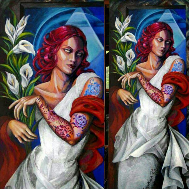 Dipinto donna tattoo