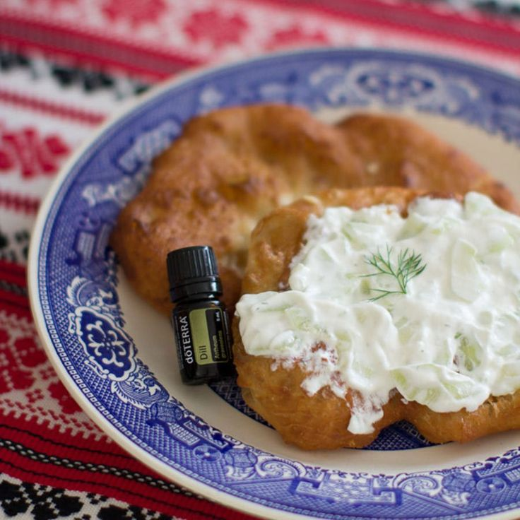 We are so excited to share one of our employee's favorite essential oil recipes. Try this Cucumber Dip with Dill essential oil and lángos in your kitchen!