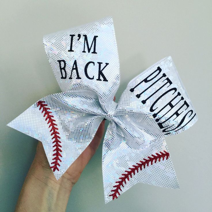 I'M BACK PITCHES SOFTBALL PLAYER BOW Cheer bow
