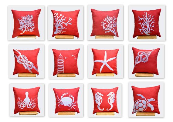 Orange Sailing Pillow Covers 18 x 18 Throw Pillow by KainKain