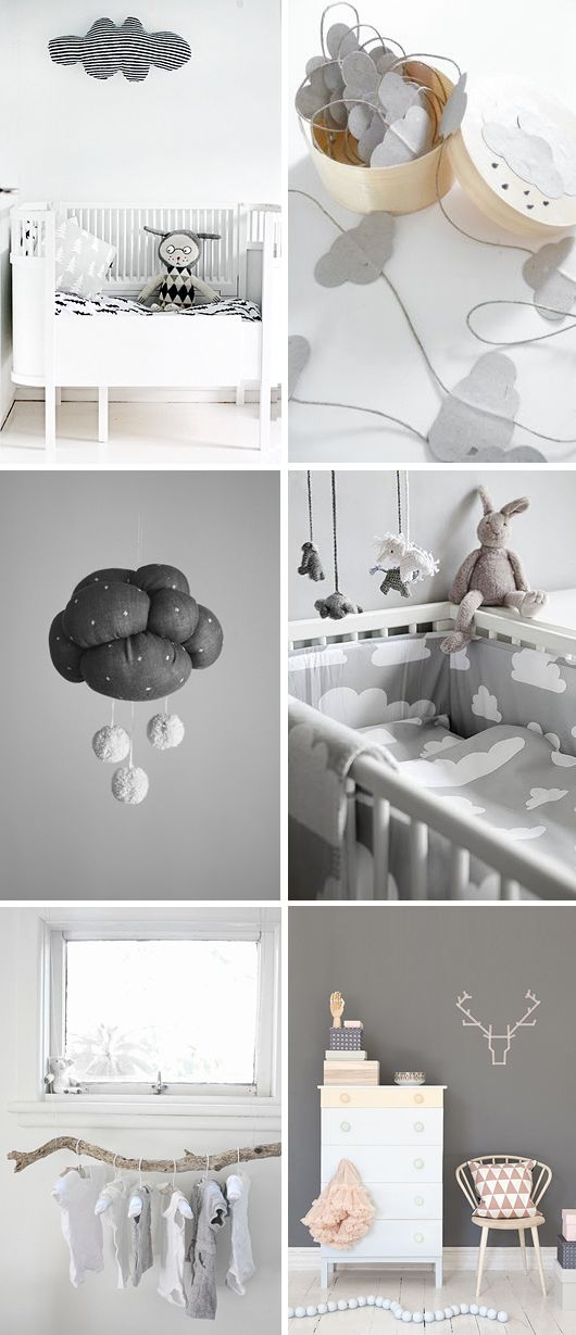 In the clouds nursery decor