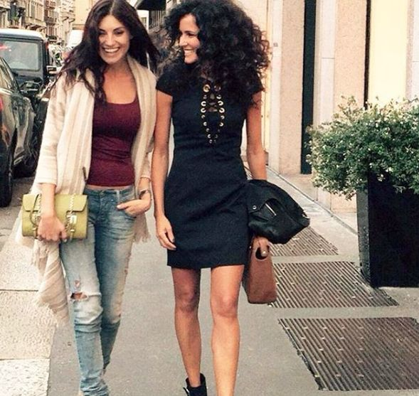 """Francesca Belussi wearing Mangano dress """"Proville"""" >> available on our shop online."""