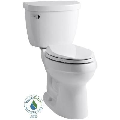 KOHLER Cimarron Comfort Height-The Complete Solution 2-piece 1.28 GPF Elongated Toilet in White-K-11451-0 - The Home Depot
