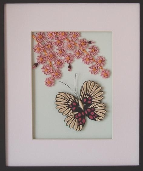 Quilling - Butterfly and Flower