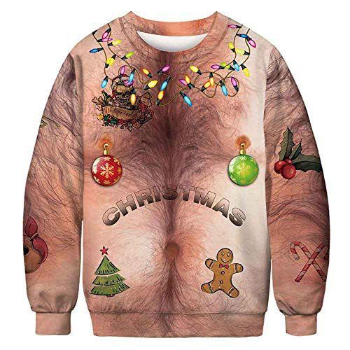Hairy Chest Muscle 3D Print Hoodie Mens Womens Hooded Sweatshirt Pullover Jumper