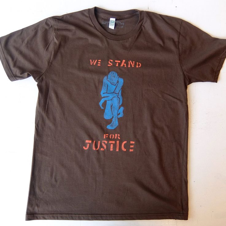 What are you wearing for Election Day? We Stand for Justice by artist Tara Geer #tarageer This Victory Garden silk screen printed t-shirt can be purchased individually or as part as limited edition collectors portfolio. Go to http://russelljanis.com/shop/victory-garden-tshirt-portfolio/ to see entire print portfolio project and to purchase.