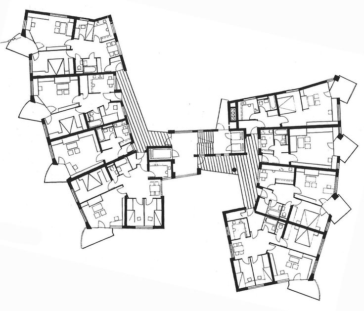 Hans Scharoun, Edifici d'apartaments Salute, Stuttgart 1961-1963