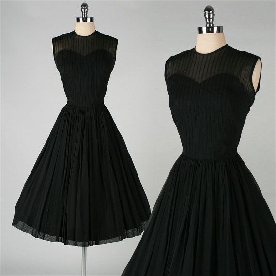 vintage 1950s dress . black illusion . by millstreetvintage, $155.00 The PERFECT black dress