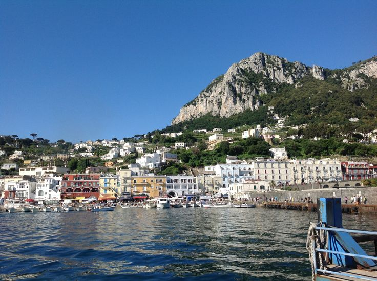 Beautiful and peaceful Capri harbor early in the morning