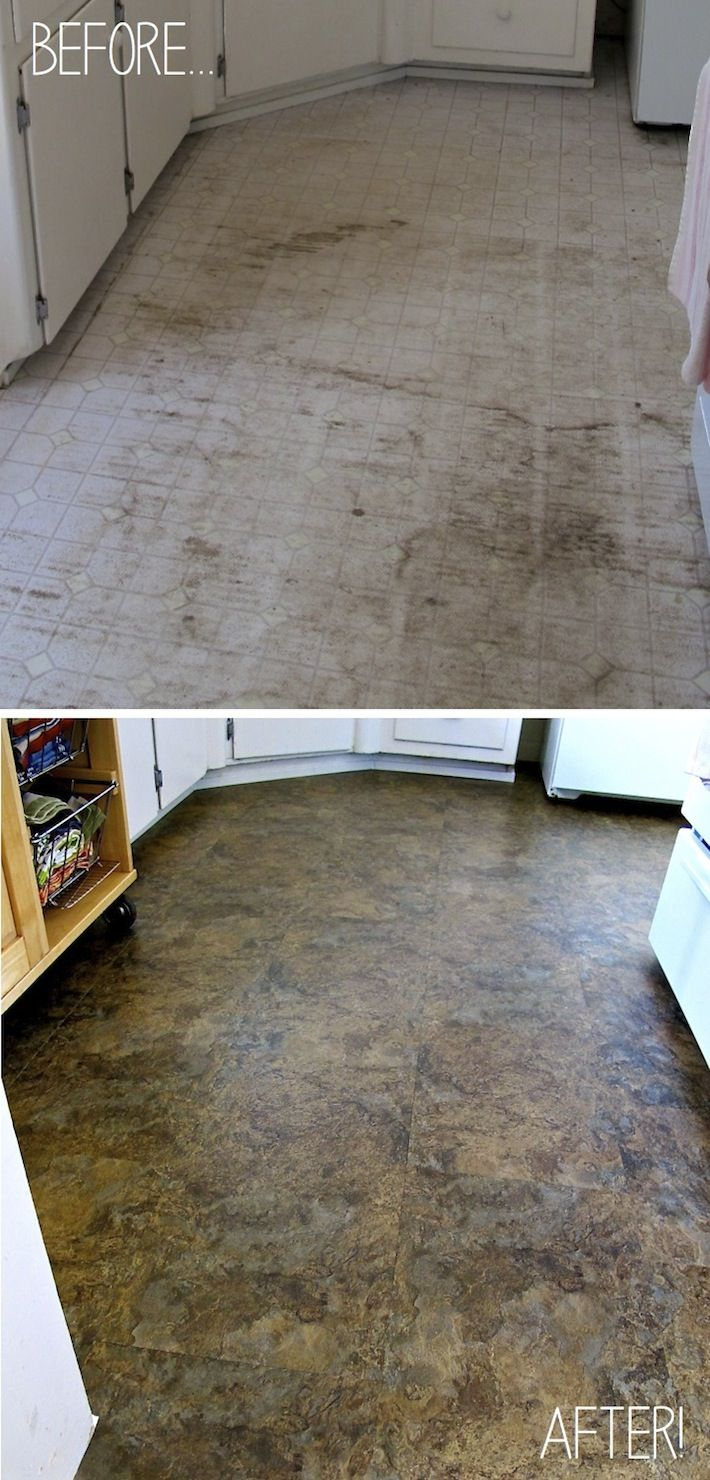 Detailed tutorial on how to install beautiful vinyl for Stick on linoleum floor
