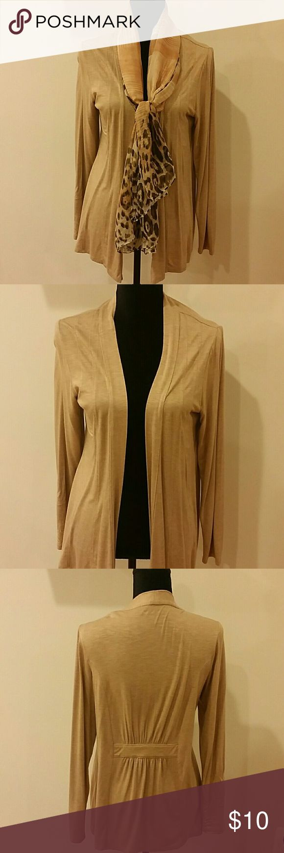 Coldwater Creek size S cardigan Soft Beige cardigan with long sleeves. No trades 20 % OFF with 3 plus bundles. Coldwater Creek  Tops