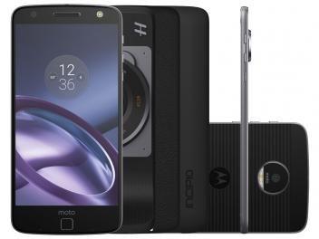 Smartphone Motorola Moto Z Power & Hasselblad True - Zoom Edition - R$ 2.999,90 em até 10x de R$ 299,99 sem juros no cartão de crédito ou R$ 2.639,91 à vista (12% Desc. já calculado.) - 64GB Preto e Grafite Dual Chip 4G (o preço pode variar sem prévio aviso)