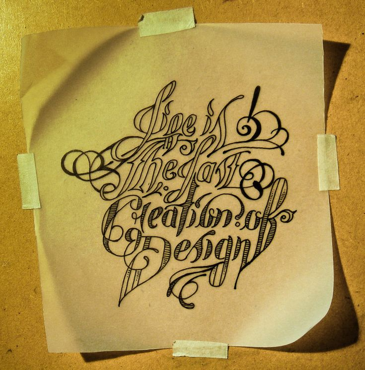 """""""Life is the last creation of design"""" Commisioned by"""