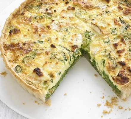 Spreading the peas on the base creates two separate layers, which looks attractive and adds an element of surprise when you cut it