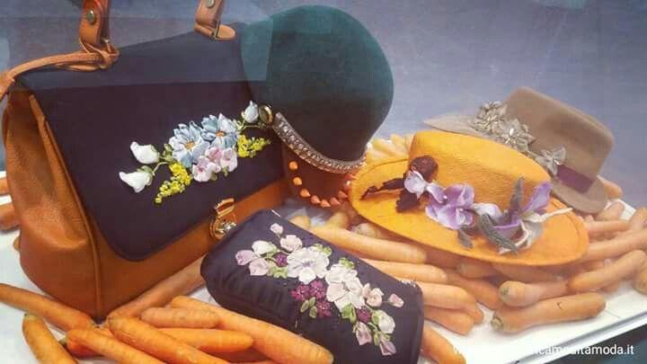 Fiera Abilmente a Roma...i frutti dei nostri corsi!!! Stiamo qui anche oggi e domani! www.scuoladiricamoaltamoda.it #fruit,#corsi,#modisteria,#cappelli ,#cappellidifeltro ,#fattoamano,#fashion,#style,#ricamo,#embroidery,#contemporaryembroidery