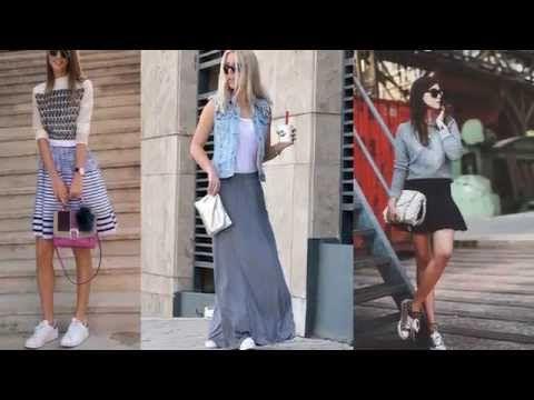 Faldas con Tenis Moda 2016