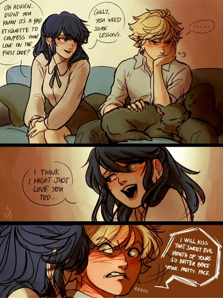 By Ceejles. Pouty Adrien is too cute.