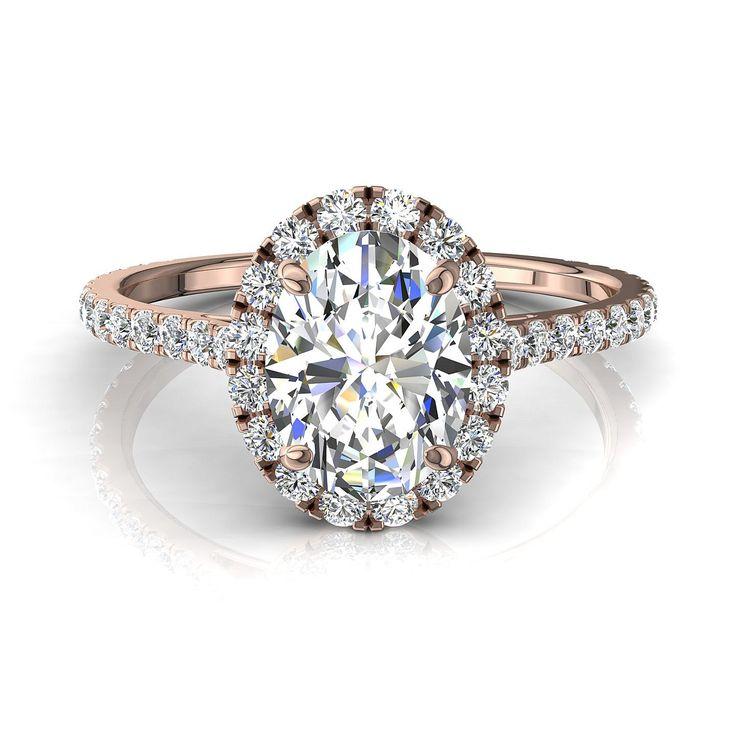 Bague de fiançailles pour femme, solitaire bague diamant oval 0,90 carats or rose Camogli-oval  #diamants #SolitaireDiamant #BagueDiamantRond #PendentifDiamantPrincesseAura #CamogliEmeraude #OrJaune #BagueDeFiancaille #Solitaire4Griffes #PendentifDiamant #BagueDiamant