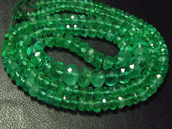 16 Inches  Excellent Trully  High Quality  EMERALD by gemsnjewelry, $500.00